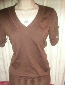 Wet Seal Strapped Sleeved Top Size Med